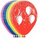 Шар воздушный Sempertex Праздничные шары ассорти, 12''/30см.