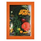 Рамка д/фото Фотолайт Сосна 15x20см., оранжевая