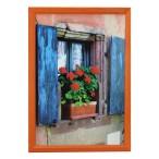 Рамка д/фото Фотолайт Сосна 21x30см., оранжевый