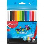 Фломастеры 10цв Maped Colorpeps Ocean супер смываемые, европодвес