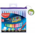Фломастеры 15цв Maped Colorpeps пластиковая zip упаковка