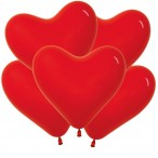 Шар воздушный Sempertex Сердце 12, пастель, красный