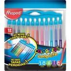 Фломастеры 12цв Maped Color Peps Long Life заблокир. пиш.узел, нетеряющ. колп., смываемые