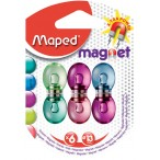 Набор магнитов Maped 6шт., 13мм., полупрозрачные, в блистере
