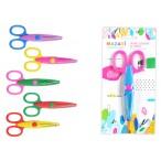 Ножницы Mazari 13.5см детские, фигурные, пластиковые ручки, лезвия из нержавеющей стали