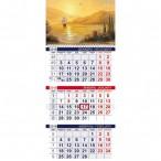 Календарь 2019г.настен. Хатбер 3бл. Морская симфония 1 гребне, с бегунком