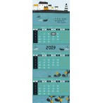 Календарь 2019г. Лакарт Дизайн На одной волне 3-х блочн., квартальный, на спирали, 210х297мм