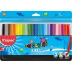 Фломастеры 24цв Maped Color Peps Ocean заблокир. пиш.узел, супер смыв., пакет