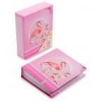 Фотоальбом Фламинго на  40 фото, 10х15см, 20л., 13,5х16,5х4,5см., розовый