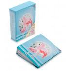 Фотоальбом Фламинго на  40 фото, 10х15см, 20л., 13,5х16,5х4,5см., голубой