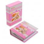 Фотоальбом Мишки Тедди на  40 фото, 10х15см, 20л., 13,5х16,5х4,5см., розовый