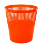 Корзина д/бумаг Tukzar  9л., оранжевая, флюорисц., пластик