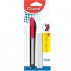 Нож канцелярский Maped Start 18мм., пластик, с ручн. фиксатором лезвия