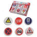 Ластик Mazari Road Sign термопластичная резина, фигурный, 6в., карт.дисплей