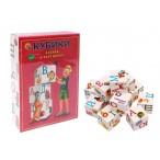 Кубики Рыжий Кот Азбука в картинках белые, пластиковые, 12шт.