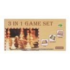 Игра настольная Рыжий Кот Шахматы, шашки, нарды фигуры дерево